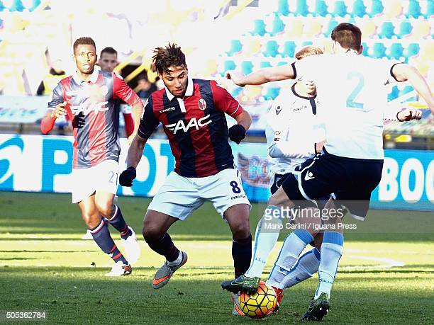 Saphir Taider of Bologna FC in action during the Serie A match between Bologna FC and SS Lazio at Stadio Renato Dall'Ara on January 17 2016 in...