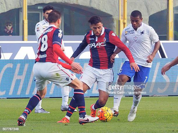 Saphir Taider of Bologna FC in action during the Serie A match between Bologna FC and UC Sampdoria at Stadio Renato Dall'Ara on January 31 2016 in...