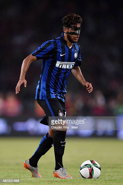 Saphir Taider of FC Internazionale in action during the International Champions Cup match between AC Milan and FC Internazionale on July 25 2015 in...