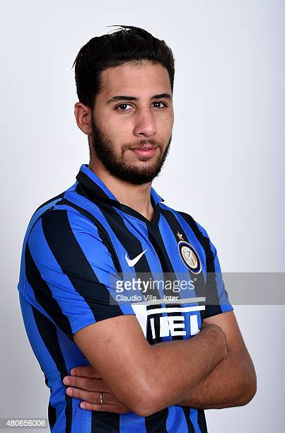 Saphir Taider of FC Internazionale poses for his Serie A 20152016 season official headshot at Riscone di Brunico on July 14 2015 in Bruneck Italy
