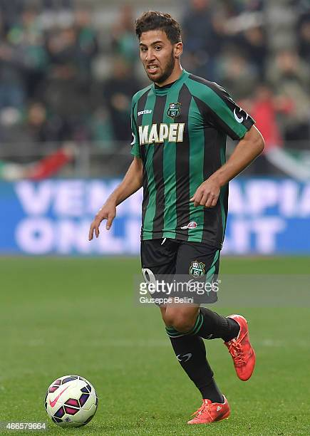 Saphir Taider of Sassuolo in action during the Serie A match between US Sassuolo Calcio and Parma FC at Mapei Stadium on March 15 2015 in Reggio...