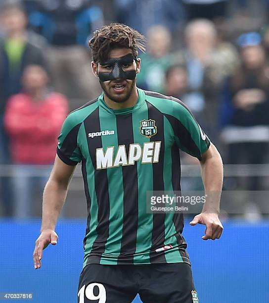 Saphir Taider of Sassuolo in action during the Serie A match between US Sassuolo Calcio and Torino FC at Mapei Stadium Città del Tricolore on April...