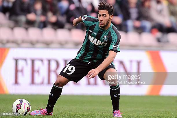 Saphir TAider of US Sassuolo Calcio in action during the Serie A match between US Sassuolo Calcio and SS Lazio on March 1 2015 in Reggio nell'Emilia...