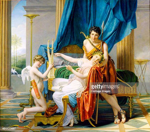 'Sappho Phaon and Cupid' 1809 According to Greek legend the poet Sappho fell in love with Phaon a ferryman from the island of Lesbos and when he...