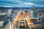 Sapporo City, Hokkaido, Japan.