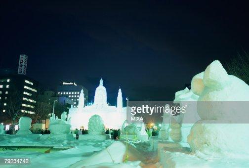 Sapporo Snow Festival, Hokkaido, Japan : Stock Photo
