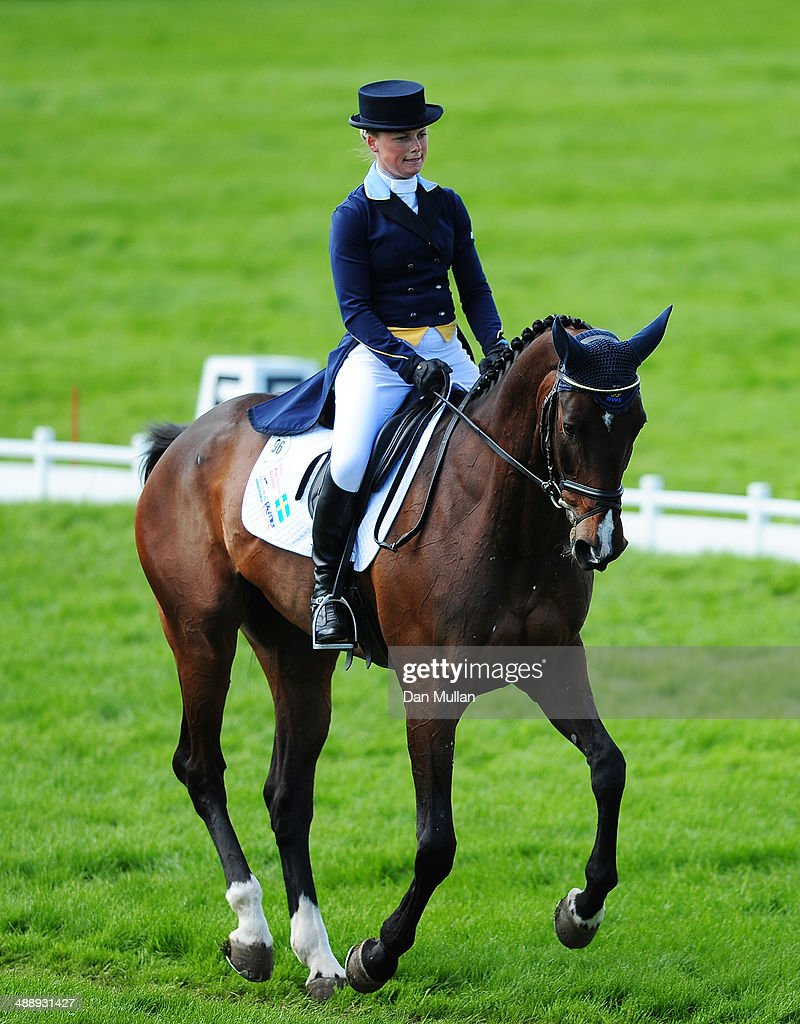 Sara Algotsson Ostholt of Sweden riding Reality 39 during the dressage on day three of the Badminton Horse Trials on May 9, 2014 in Badminton, England.