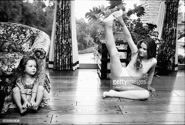 Sara and Melissa Gilbert at their Los Angeles home