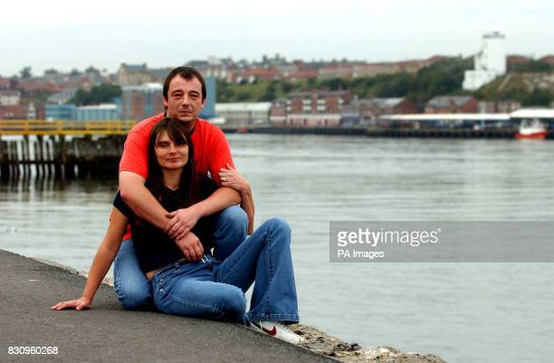 Sara and Michael Payne parents of murdered school girl Sarah Payne at south Shields riverside prior to attending the north of England Victim's...