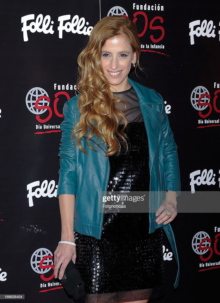 Sara Ballesteros attends the 'Folli Follie' campaign launch at the Casino de Madrid on October 30, 2012 in Madrid, Spain.