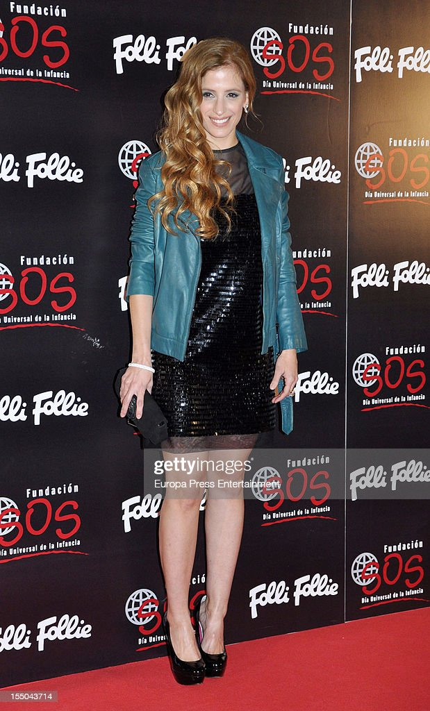Sara Ballesteros attends the 'Folli Follie' campaign launch on October 30, 2012 in Madrid, Spain.