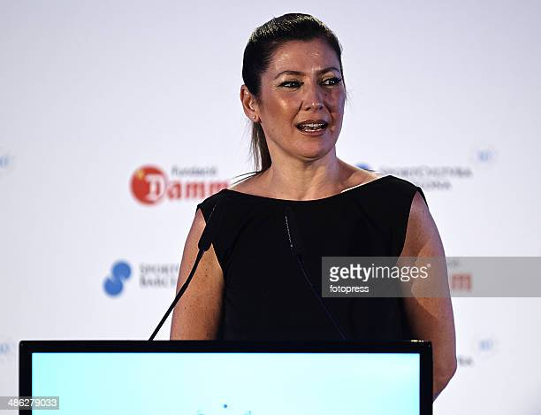Sara Baras attends the Sport Cultura Barcelona awards during day three of the ATP Barcelona Open Banc Sabadell at the Real Club de Tenis Barcelona on...