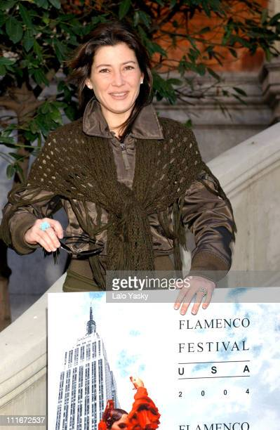 Sara Baras during Sara Baras and Jose Merce Present 'Il Flamenco Festival UK 2004' at Casa de America in Madrid in Madrid Spain
