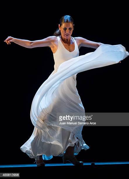 Sara Baras performs at Palacio Deportes on September 20 2014 in Santander Spain