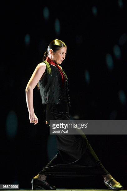 Sara Baras performs on stage at Auditori Del Forum on February 12 2010 in Barcelona Spain