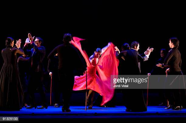 Sara Baras performs on stage at Teatre Colisium on September 22 2009 in Barcelona Spain