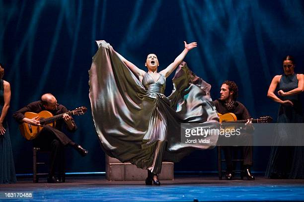 Sara Baras performs on stage during Festival del Millenni at Teatre Tivoli on March 5 2013 in Barcelona Spain