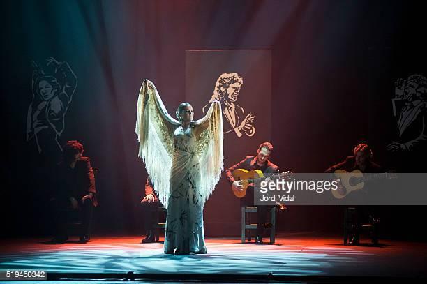 Sara Baras performs on stage Voces at Teatre Tivoli on April 6 2016 in Barcelona Spain