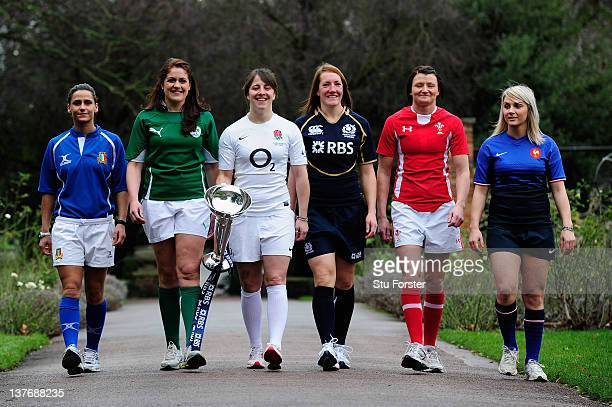 Sara Barattin of Italy Fiona Coughlan of Ireland Katie McLean of England Susie Brown of Scotland Rachel Taylor of Wales and Nathalie Amiel of France...
