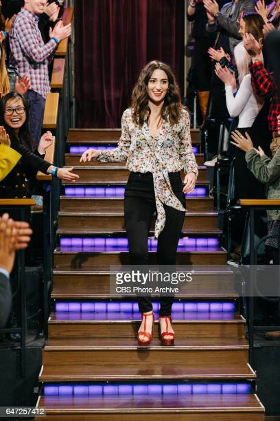 Sara Bareilles and Chris O'Donnell chat with James Corden during 'The Late Late Show with James Corden' Monday February 27 2017 On The CBS Television...