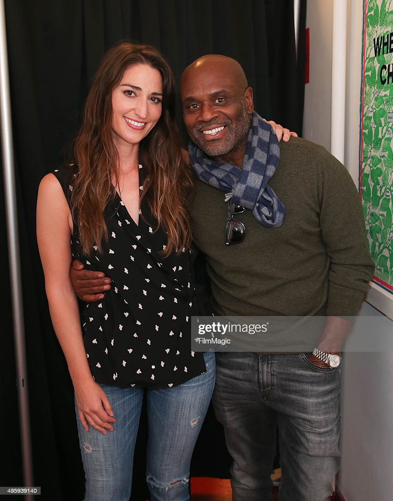 Sara Bareilles (L) and L.A. Reid appear backstage at the Sara Bareilles Album Release Concert on November 5, 2015 in New York City.