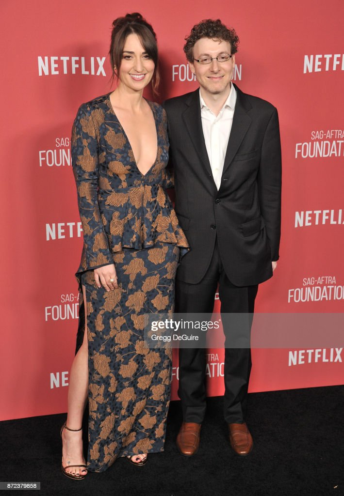 Sara Bareilles and Nicholas Britell arrive at the SAG-AFTRA Foundation Patron of the Artists Awards 2017 on November 9, 2017 in Beverly Hills, California.