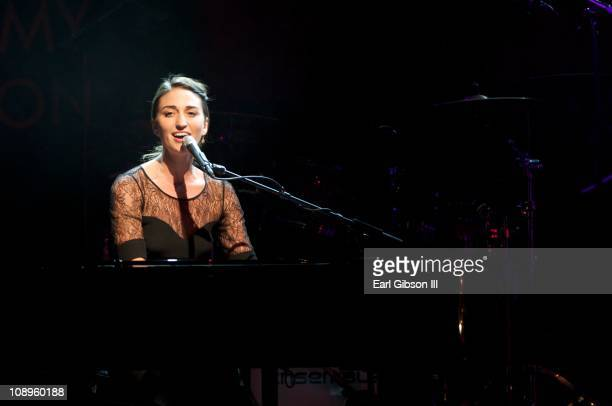 Sara Bareilles performs at GRAMMY In The Schools Live Grand Ballroom on February 9 2011 in Los Angeles California