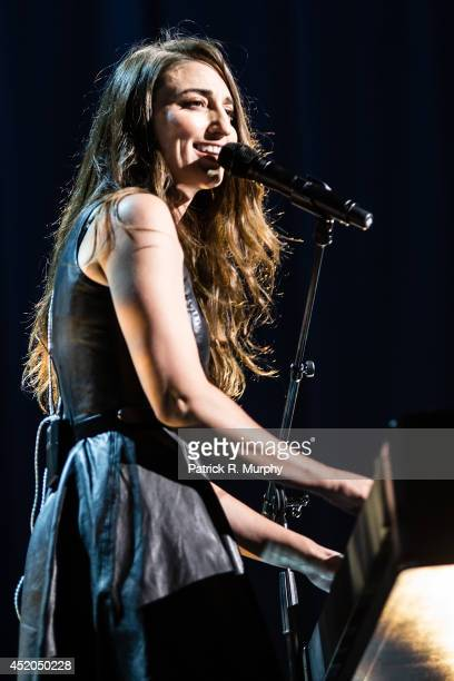 Sara Bareilles performs at Jacobs Pavilion on July 11 2014 in Cleveland Ohio