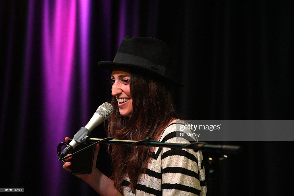 <a gi-track='captionPersonalityLinkClicked' href=/galleries/search?phrase=Sara+Bareilles&family=editorial&specificpeople=4116387 ng-click='$event.stopPropagation()'>Sara Bareilles</a> performs at Mix 106.1 Performance Theater April 30, 2013 in Bala Cynwyd, Pennsylvania.
