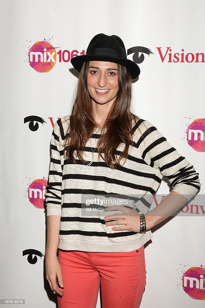 Sara Bareilles poses at Mix 106.1 Performance Theater April 30, 2013 in Bala Cynwyd, Pennsylvania.