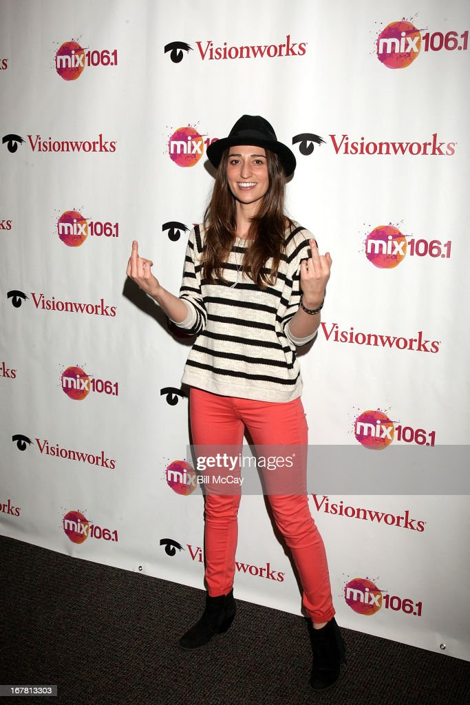 <a gi-track='captionPersonalityLinkClicked' href=/galleries/search?phrase=Sara+Bareilles&family=editorial&specificpeople=4116387 ng-click='$event.stopPropagation()'>Sara Bareilles</a> poses at Mix 106.1 Performance Theater April 30, 2013 in Bala Cynwyd, Pennsylvania.