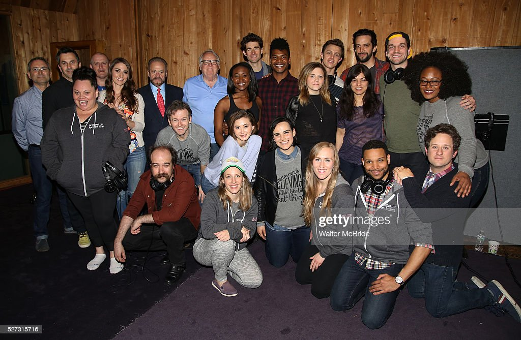 <a gi-track='captionPersonalityLinkClicked' href=/galleries/search?phrase=Sara+Bareilles&family=editorial&specificpeople=4116387 ng-click='$event.stopPropagation()'>Sara Bareilles</a> with the cast and creative team attend the 'Waitress' Broadway cast recording at MSR Studios on May 2,, 2016 in New York City.