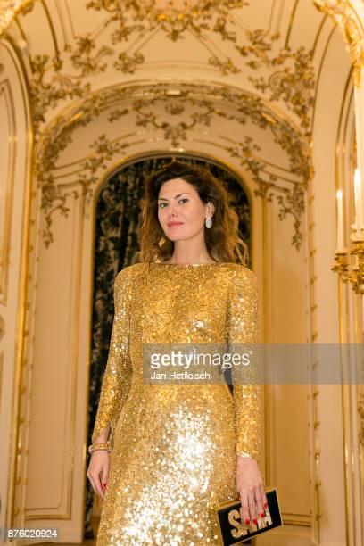 Sara Battaglia attends the Aquazzura x Mytheresacom dinner at Palais Liechtenstein on November 18 2017 in Vienna Austria