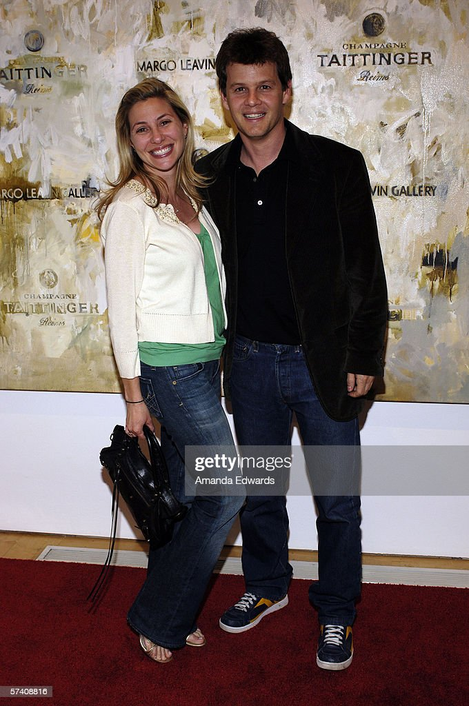 Sara Berger and Adam Biesk attend the opening of artist Delia Brown's 'Double Self-Portraits And Step & Repeat' exhibition at the Margo Leavin Gallery on April 20, 2006 in West Hollywood, California.
