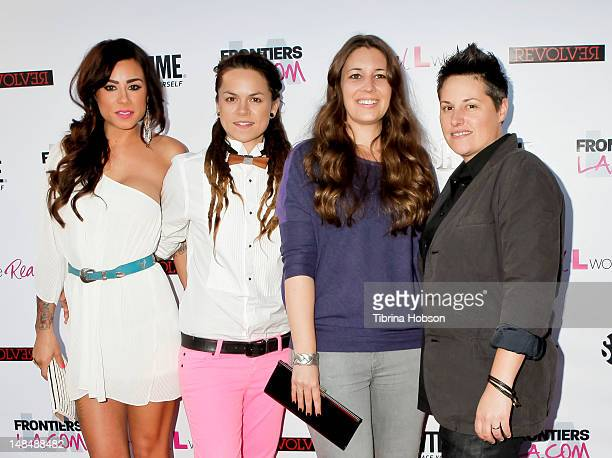 Sara Bettencourt Whitney Mixter Cori McGinnBoccumini and Kacy Boccumini attend the season 3 premiere of Showtime's 'The Real L Word' held at Revolver...