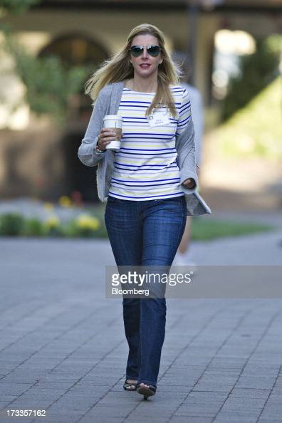 Sara Blakely founder of Spanx Inc arrives for a morning session during the Allen Co Media and Technology Conference in Sun Valley Idaho US on Friday...