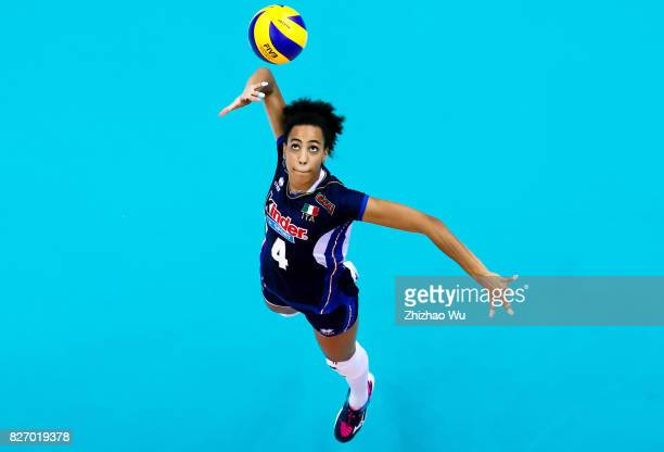 Sara Bonifacio of Italy during 2017 Nanjing FIVB World Grand Prix Finals between Italy and Brazil on August 6 2017 in Nanjing China
