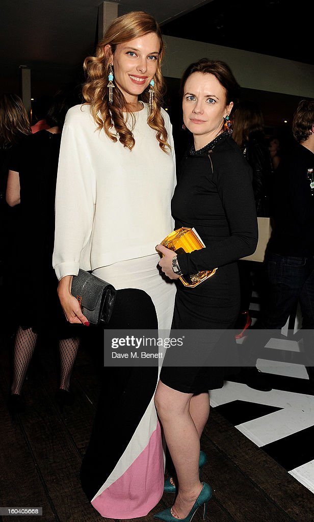 Sara Brajovic (L) and InStyle editor Eilidh Macaskill attend the InStyle Best Of British Talent party in association with Lancome and Avenue 32 at Shoreditch House on January 30, 2013 in London, England.