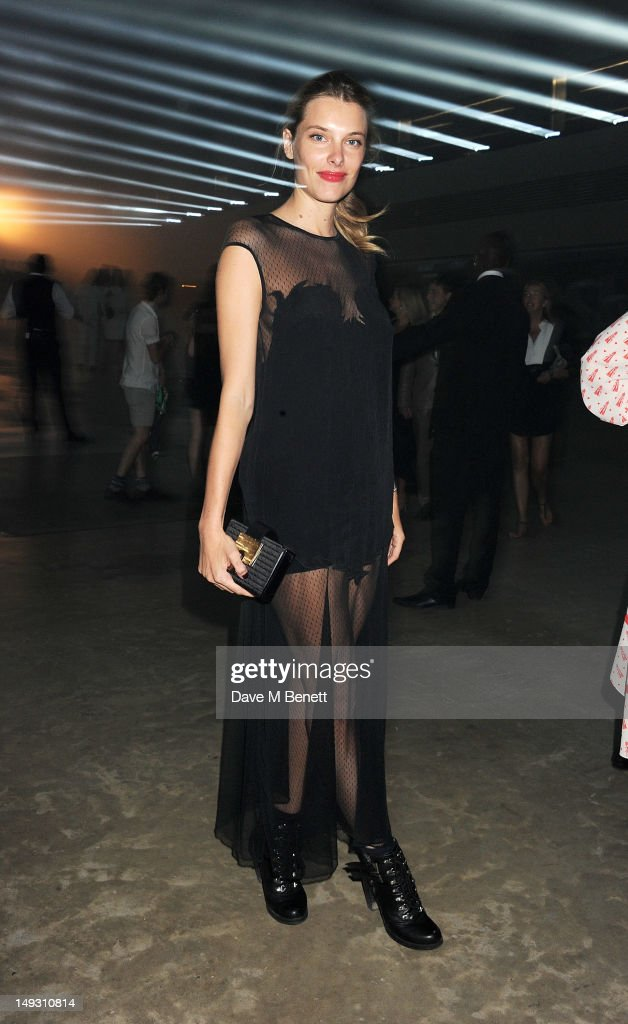 Sara Brajovic arrives at the Warner Music Group Pre-Olympics Party in the Southern Tanks Gallery at the Tate Modern on July 26, 2012 in London, England.