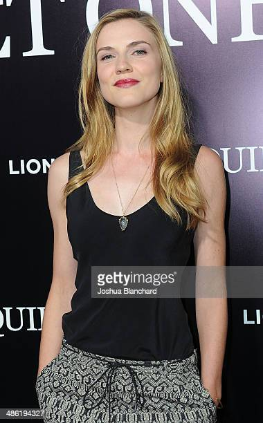 Sara Canning arrives at the premiere of Lionsgate Films' 'The Quiet Ones' at the Theatre At Ace Hotel on April 22 2014 in Los Angeles California