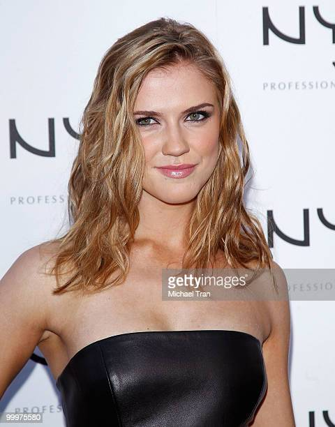Sara Canning arrives to the Nyx Professional Makeup decade1 year anniversary party held at The Roosevelt Hotel on May 18 2010 in Hollywood California