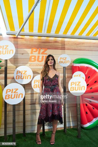Sara Carbonero attends Pin Buiz photocall at the Vincci The Mint Hotel on July 5 2017 in Madrid Spain