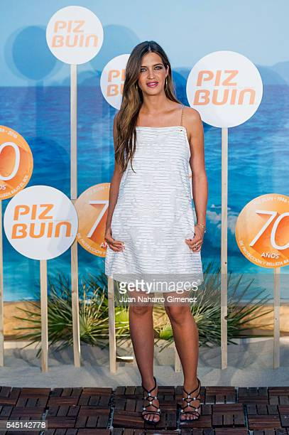 Sara Carbonero attends Piz Buin 70th Anniversary photocall at COAM on July 5 2016 in Madrid Spain