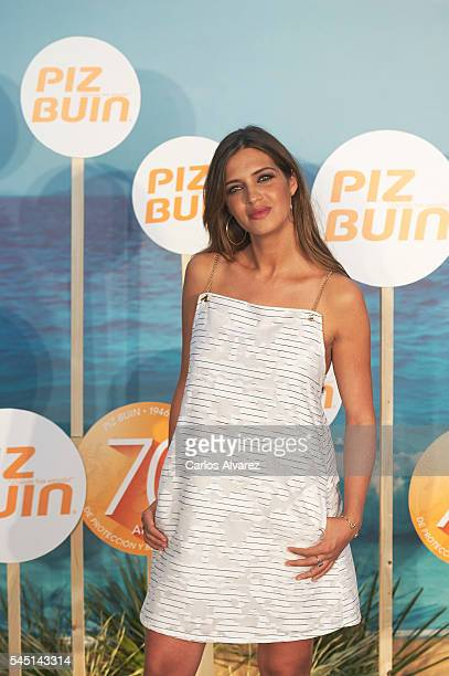 Sara Carbonero celebrates Piz Buin 70th anniversary at the COAM on July 5 2016 in Madrid Spain