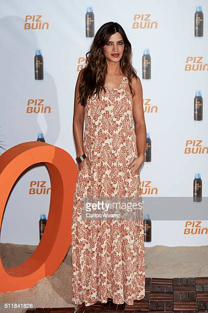 Sara Carbonero is presented as the new face of 'Piz Buin' on February 23 2016 in Madrid Spain