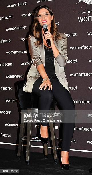 Sara Carbonero is presented as the new image of Women's Secret on September 11 2013 in Madrid Spain