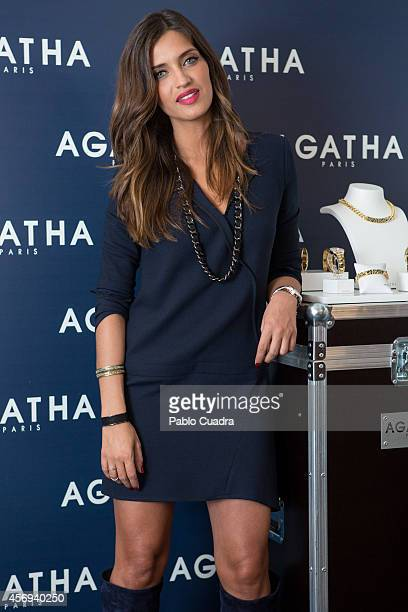 Sara Carbonero poses during a photocall to present the new 'Agatha Paris' jewellery collection on October 9 2014 in Madrid Spain