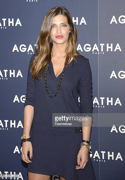 Sara Carbonero presents the Agatha Paris jewellery new collection at Espacio Mood on October 9 2014 in Madrid Spain