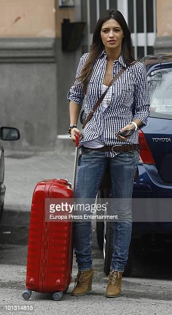 Sara Carbonero Spanish journalist and girlfriend of Real Madrid's goalkeeper Iker Casillas sighting on May 30 on June 1 2010 in Madrid Spain