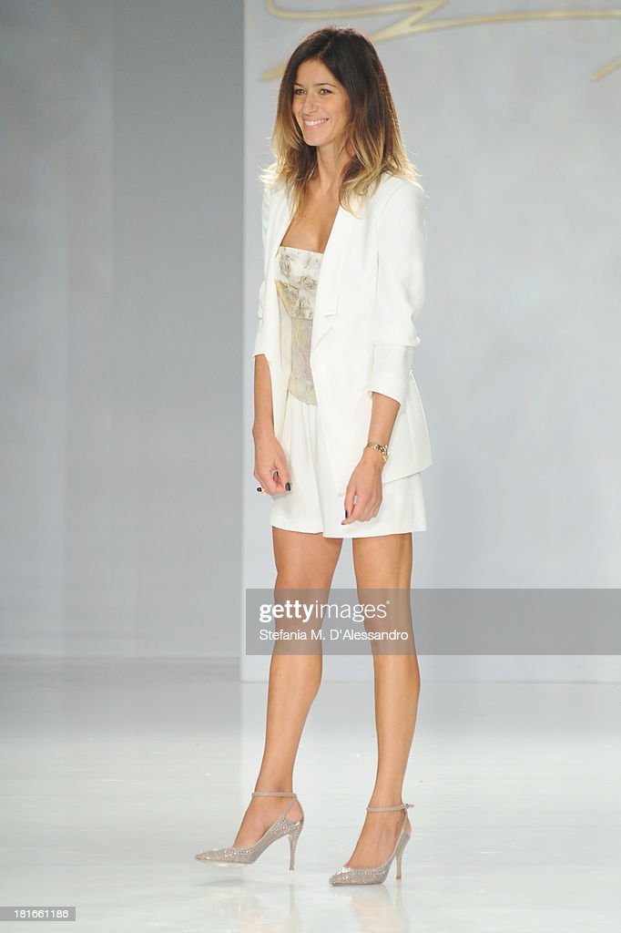 Sara Cavazza Facchini walks the runway at the Genny show as a part of Milan Fashion Week Womenswear Spring/Summer 2014 at on September 23, 2013 in Milan, Italy.